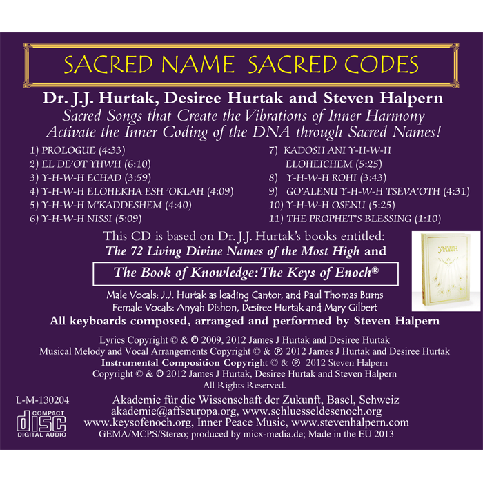 Sacred Name Sacred Codes Titelliste